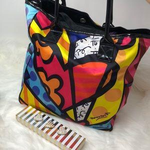 Handbags - Britto Romero Tote colorful w/ Patent Lthr accents